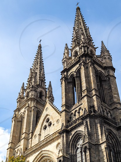 Close-up of the Facade of the Church of St Martial in Bordeaux photo