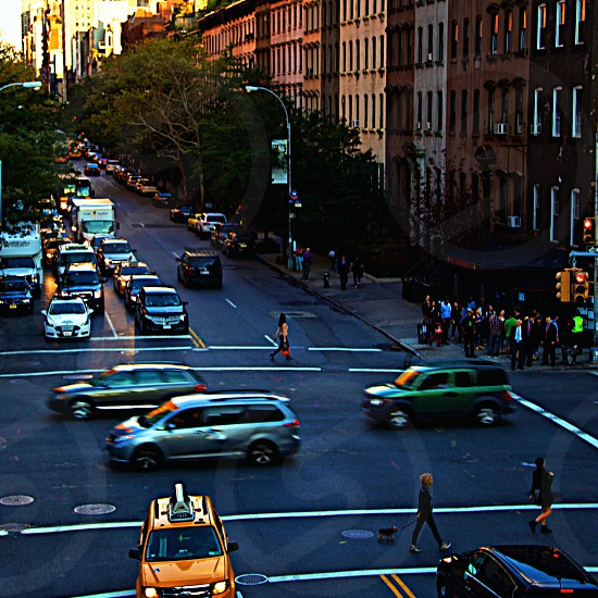 It never slows down. Nyc New York city city life life lifestyle cars photo
