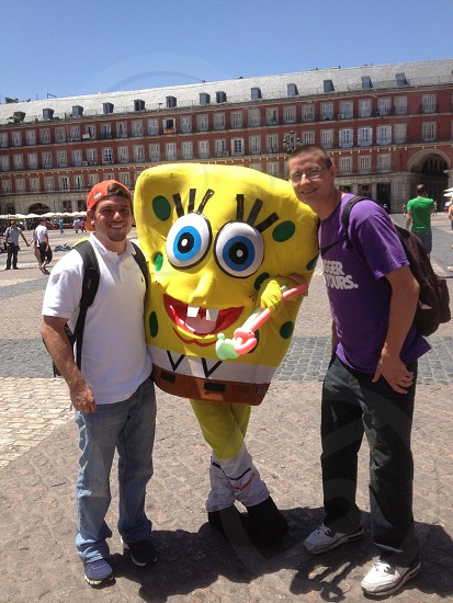 Hanging with Spongebob in Madrid photo