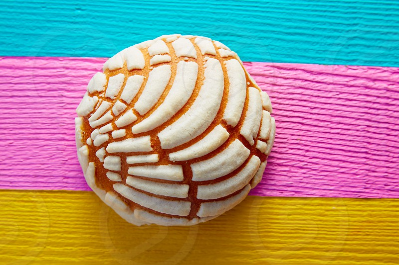 Conchas Mexican sweet bread traditional bakery from Mexico photo