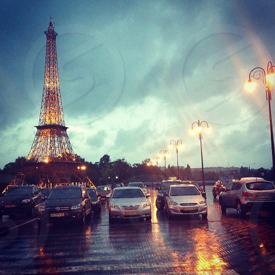 park zone rain city lights  photo