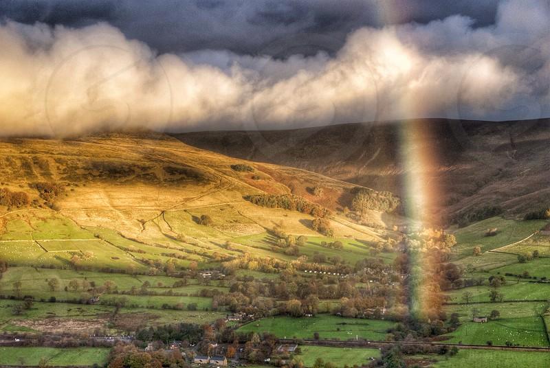 Rainbow over Edale Derbyshire. photo