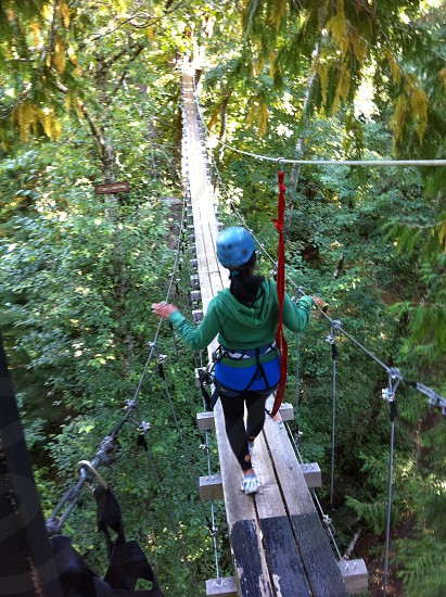 Zip lining in Sooke Bc photo