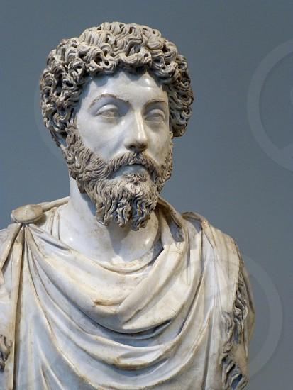 Bust of Marcus Aurelius.  Metropolitan Museum of Art.  New York City. photo