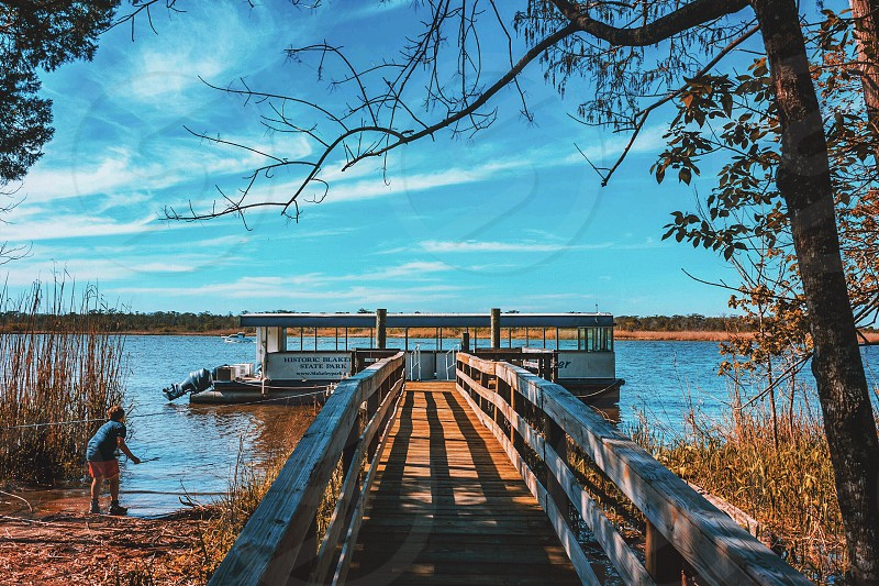 Blakely state park boat tour pier dock water river Spanish fort alabama photo