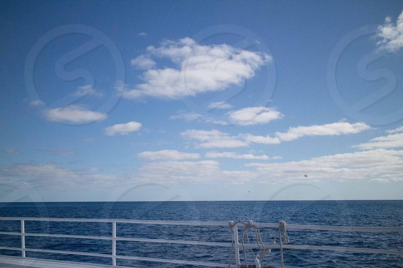 Blue skies Blue sea. Caribbean Sea photo