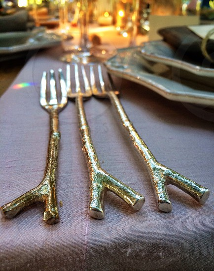 stainless steel meat fork  photo