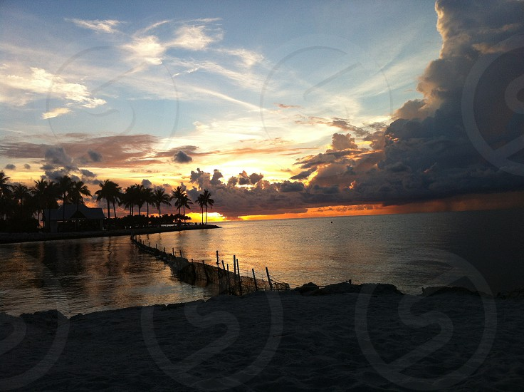 sunset Florida keys photo