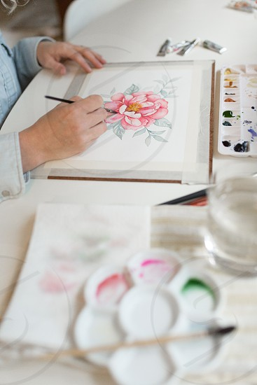 A job editorial of a watercolorist photo