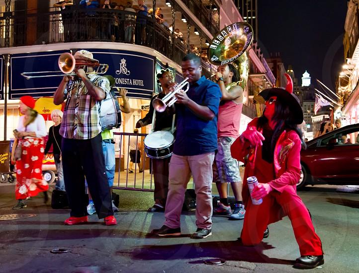 New Orleans;Nola;live music;band;party;devil;bourbon street photo