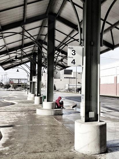 Bus stop photo