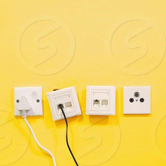 white telephone socket photo