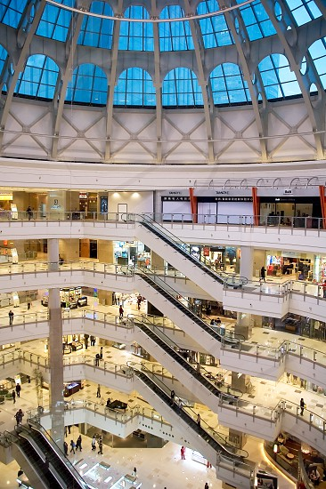shanghai big modern typical Shopping mall  interior photo