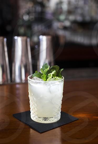 mint green tea lemonade photo