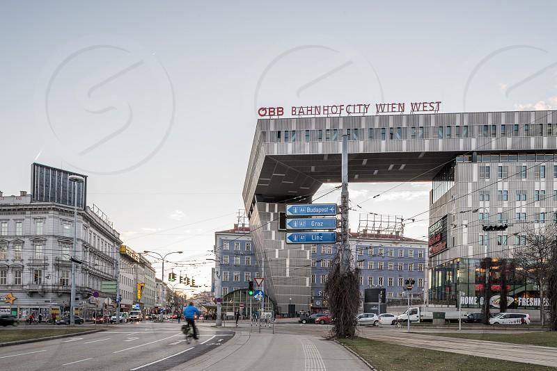 Vienna Rudolfsheim-Fünfhaus Westbahnhof from gürtel ring road. photo