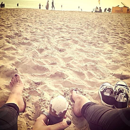 Bournemouth beach sunshine ice cream  photo