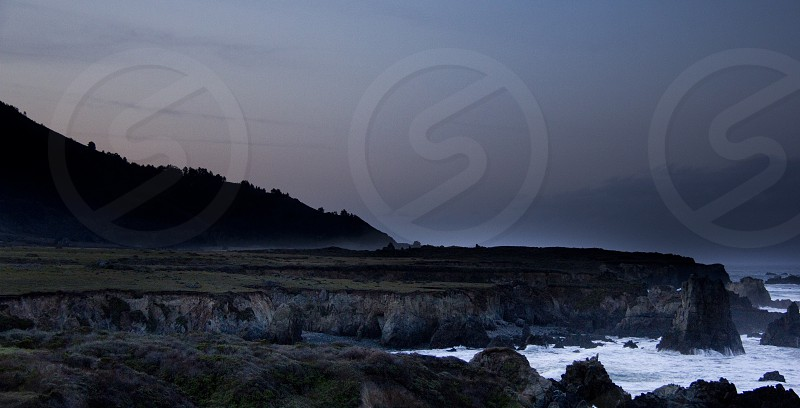 Sunrise near Carmel/Big Sur coastline. photo