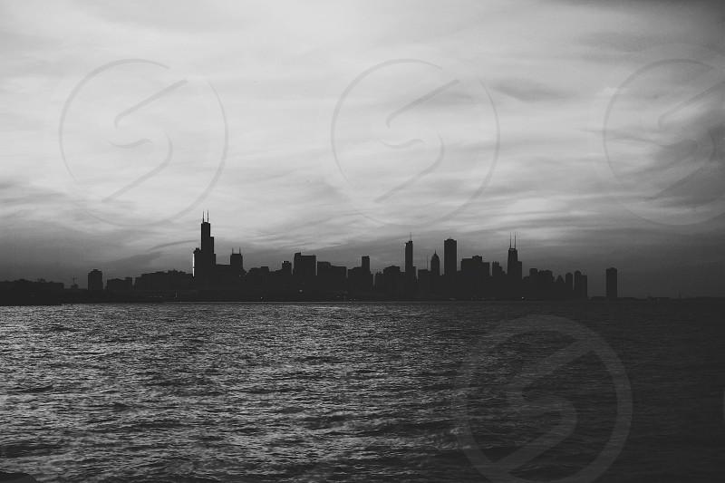 city landscape on water photo