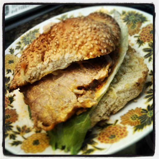 Pork chop sandwitch photo