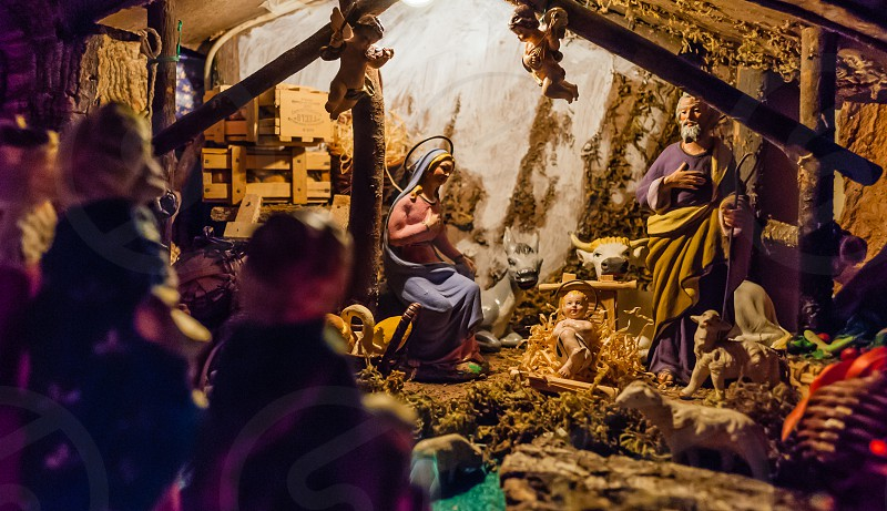 birth of jesus in the manger photo