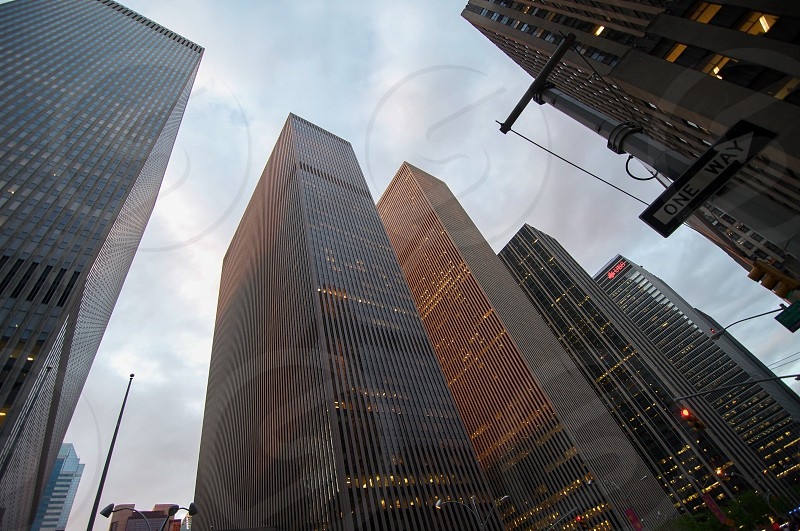 6 high rise building and white cloudy sky view photo