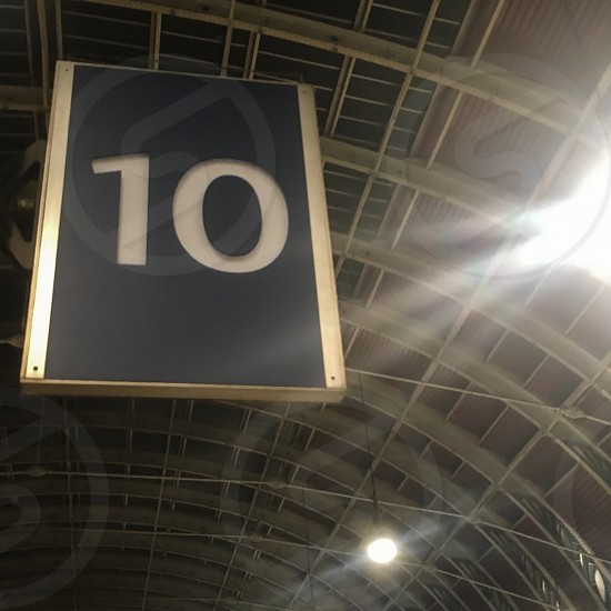 The number 10 at a railway station photo