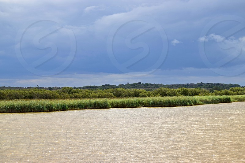 River cruise at St Lucia Estuary in KwaZulu-Natal South Africa photo