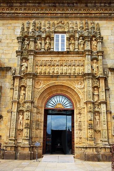 Santiago de Compostela Parador in Obradoiro Plaza end of Saint James Way in Galicia Spain photo