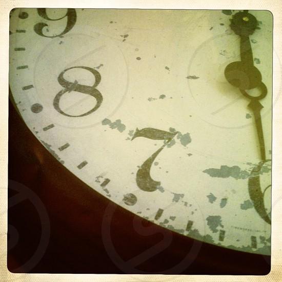 Close Up of Wall Clock photo