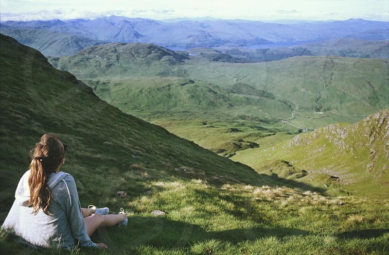 Ben Lomond portrait mountains mountaineering climb summer sun Scotland Scottish landscape Munro  photo