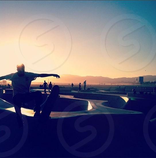 Skater in Venice CA photo