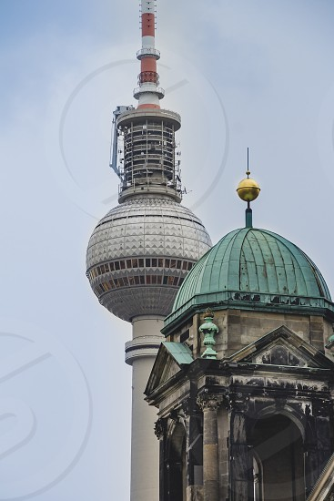 Berlin Cathedral and The TV Tower near that. photo