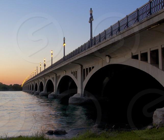 Belle Isle Bridge Detroit MI.  photo