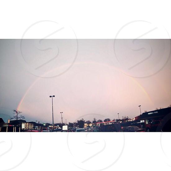 Double rainbow photo
