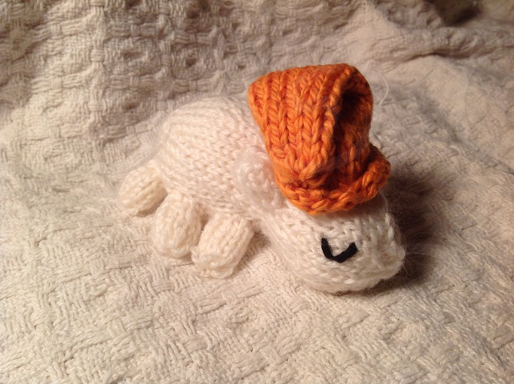 A hand knit bed bug. photo