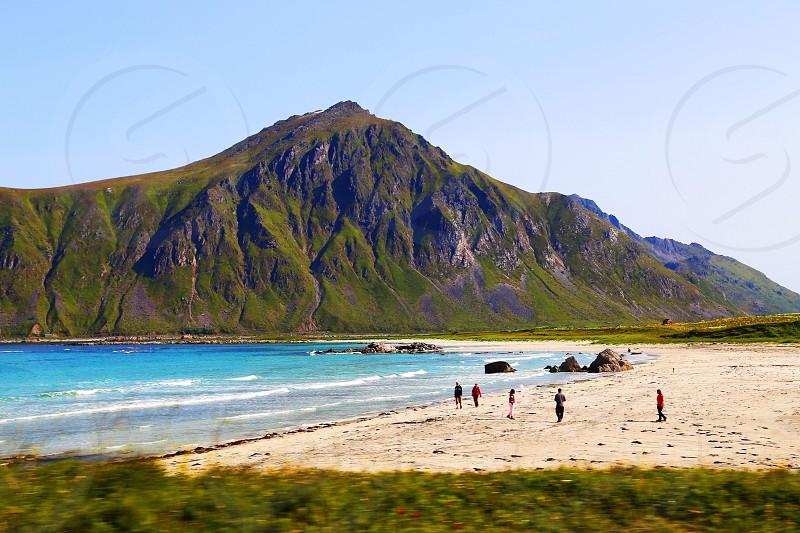 Lofoten island on the way to Honningsvåg photo