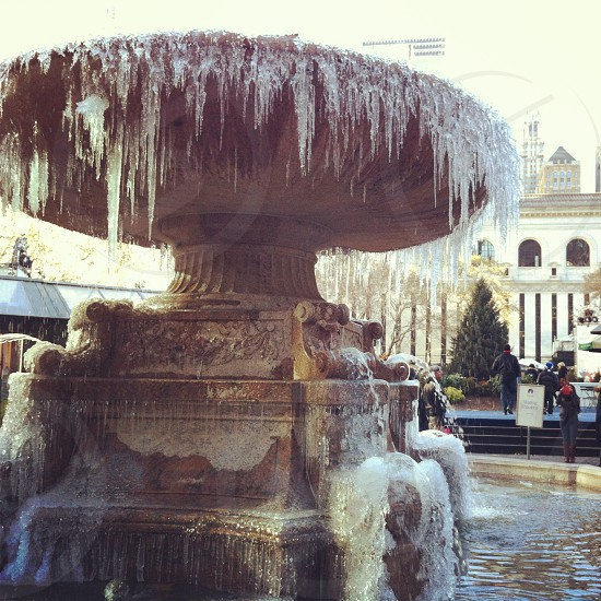 An icy afternoon in Bryant Park. photo