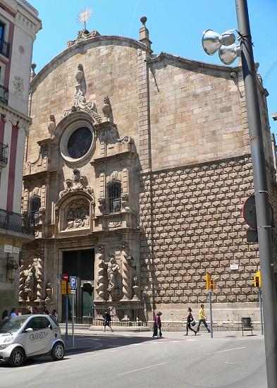 Gothic Quarter Barcelona Spain. photo