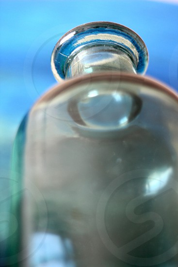 Bottle blue point of view photo