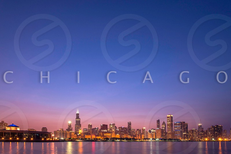 Chitown at bluehour photo