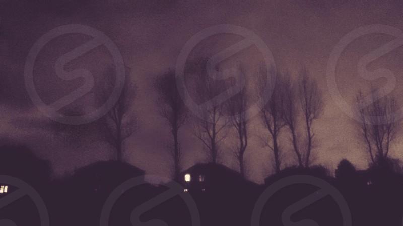 Winter sky. photo