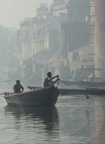 Boat Ganges River India Floating photo