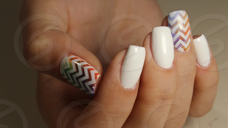 Manicure nail design for beautiful girls photo