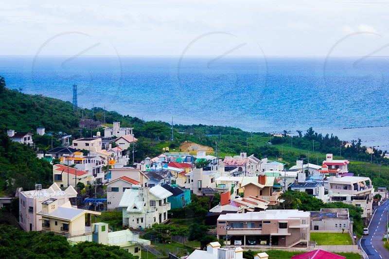 Town by the sea. photo
