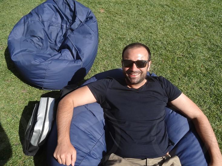 grass lawn beanbags Gen Y fun outdoors sun photo