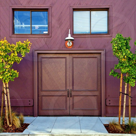 brown wooden door photo