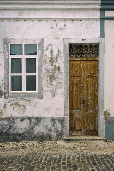 Door of a home in Portugal photo