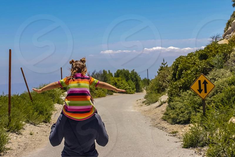 Flying hiking hike mountain peak photo