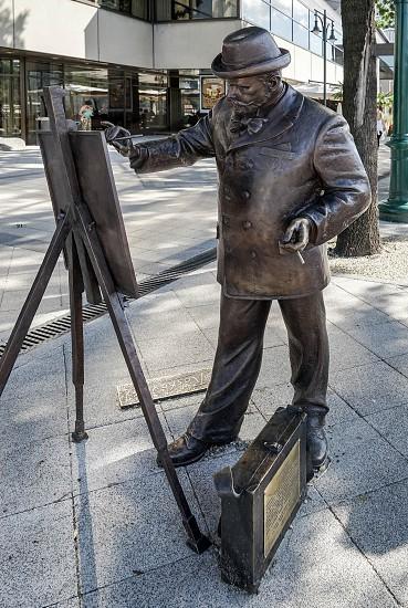 Bronze Statue of Roskovics Ignac in Budapest photo