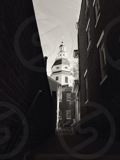 Annapolis Maryland city hall building black and white architecture photo